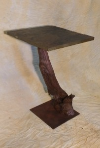 end table w slate